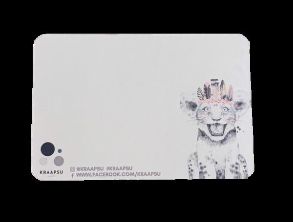 safari kraabitav kaart tagakülg kraapsu disain