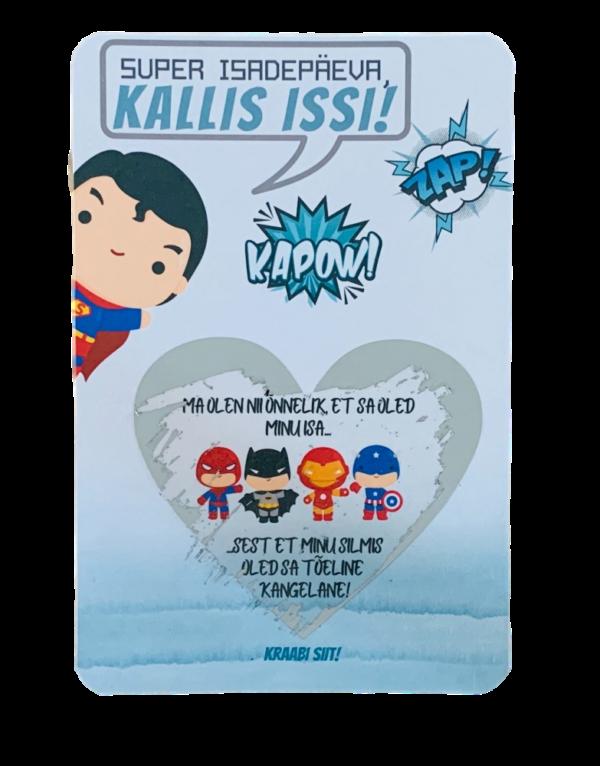 isadepäeva kaart superkangelane parim isa