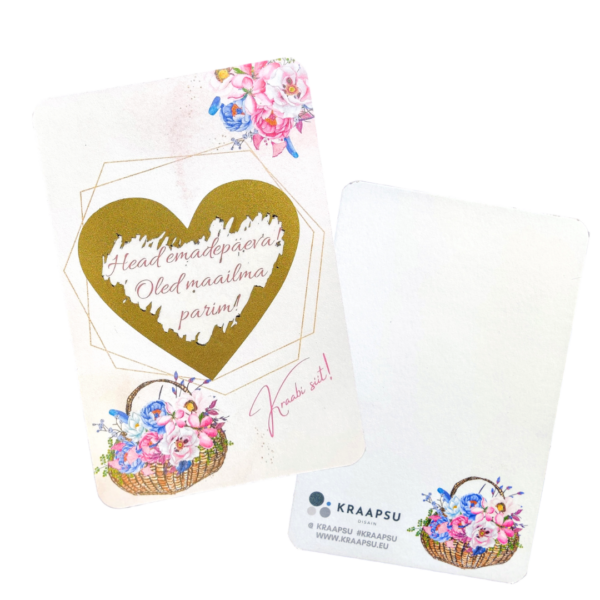 Kevadlilledega emadepäeva kaart personaalne kraabitav kingitus