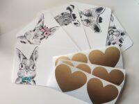 kaarditoorikud loomadega kraabitavad kleebised kraabitavad kaardid scratch off card
