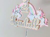 Ükssarvik vikerkaar koogitopper unicorn rainbow cake topper koogi kaunistus sünnipäev