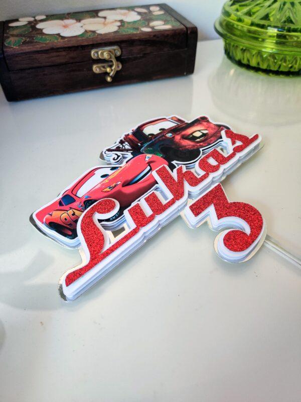 autod cars pikne mcqueen matu koogitopper cake topper kaunistus dekroatsioon kraapsu personaalne nime topper