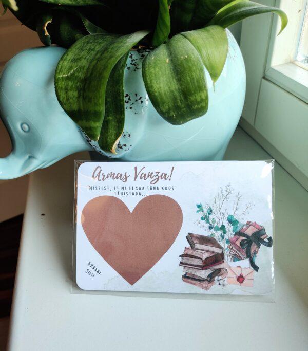 kraabitav kaart sünnipäeva kaart üllatus õnnitluskaart kingitus kingiidee mehele naisele emale tütrele pojale kraabitav süda beebipidu, rasedus gender reveal kraapsukaart unelm roosaks-sinine unistus kingiidee